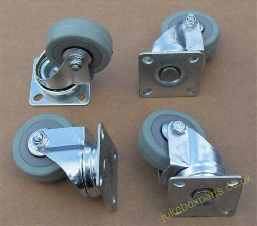 Set of 4 Swivel Wheel Non Marking Rubber Castors (SC03)