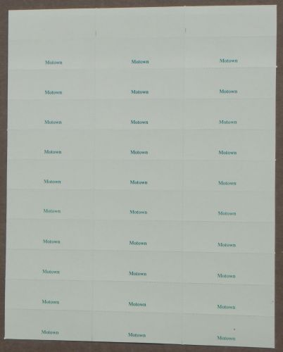 Sheet of 30 Perforated Vinyl Title Cards (TCV06)