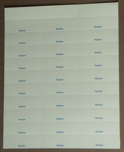 Sheet of 30 Perforated Vinyl Title Cards (TCV10)