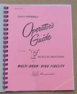 AMI Model F Quick Reference Operators Guide