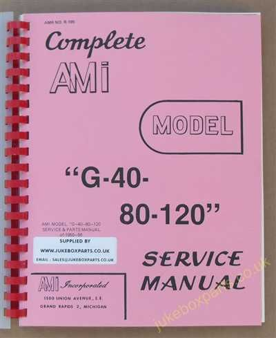 AMI Models G-40-80-120 Manual (1955-56)