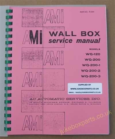 AMI WQ Wall Box Service Manual