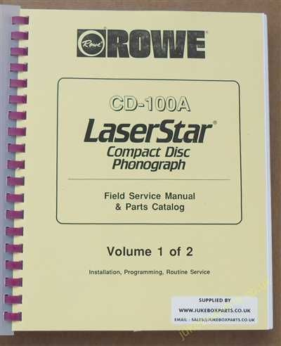 Rowe Ami CD100A Laser Star Service & Parts Manual