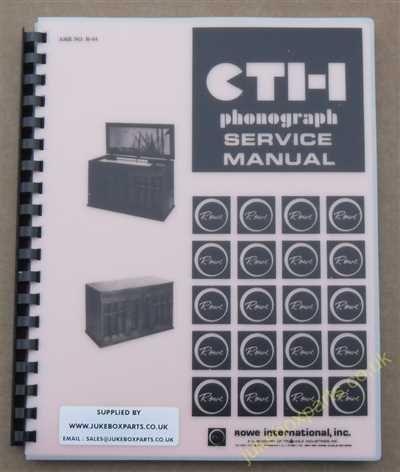 Rowe Ami CTI Crestwood Manual (1974)