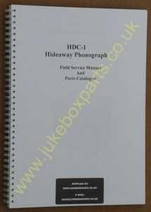 Rowe Ami HDC-1 CD Hideaway Manual