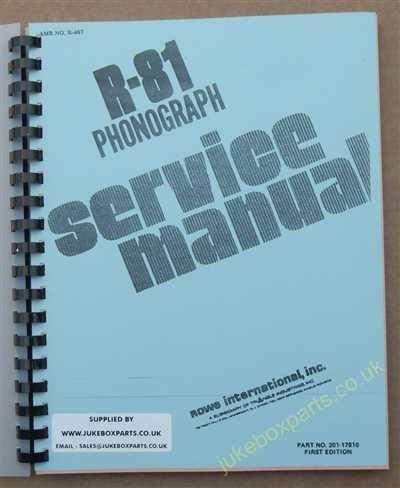 Rowe Ami R-81 Manual (1977)