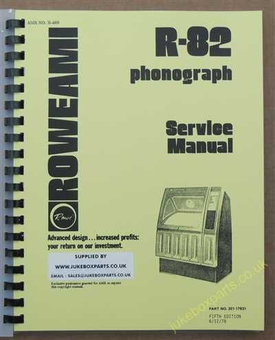 Rowe Ami R-82 Woodhue, Black Magic Manual (1978)
