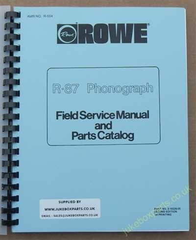Rowe Ami R-87 Golden 7, Sapphire 7 Manual (1984)