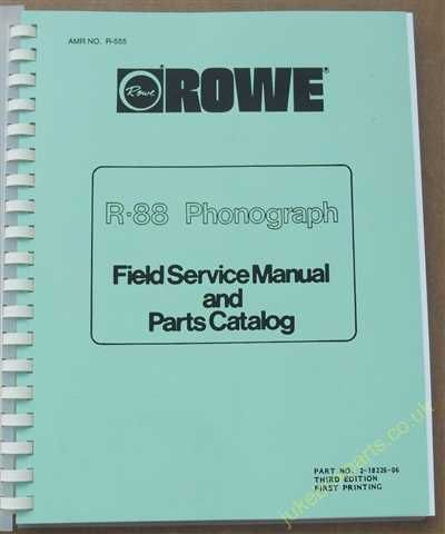 Rowe Ami R-88 Golden 8, Sapphire 8 Manual (1984)