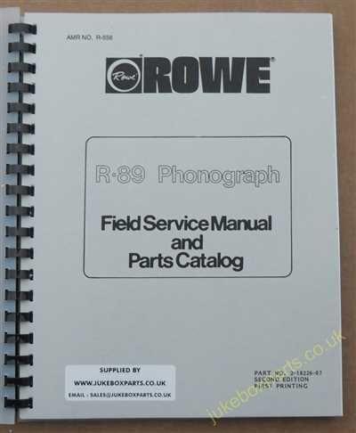 Rowe Ami R-89 Golden 89, Sapphire 89 Manual (1985)