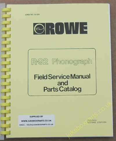 Rowe Ami R-92 Golden 92, Sapphire 92 Manual (1988)