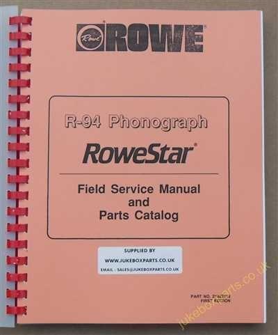 Rowe Ami R-94 Rowestar Manual