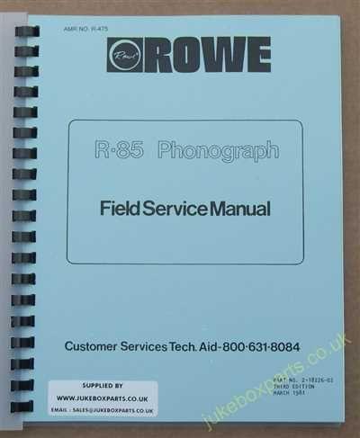 Rowe Ami R-85 Starlight, Starburst, Starwood Manual (1981)