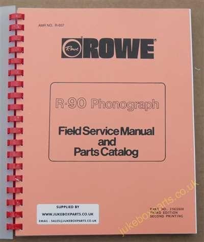 Rowe Ami R-90 Golden 90, Sapphire 90 Manual (1986)