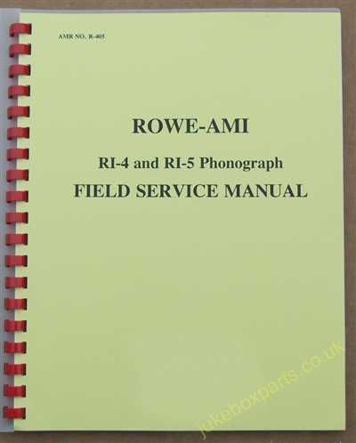 Rowe Ami RI-4 Jewel, RI-5 Romantica Manual (1982)
