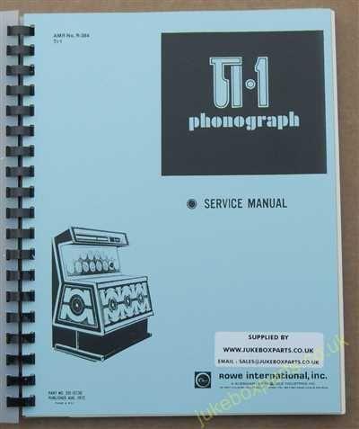 Rowe Ami TI-1 Seville, Monte Carlo & Deauville Manual