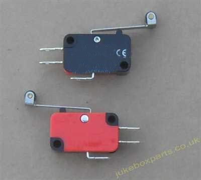 Microswitch Fitted With Long Arm Roller Lever (MS08)