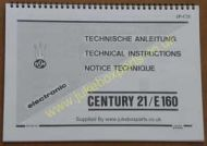 NSM Century 21/E160 Manual