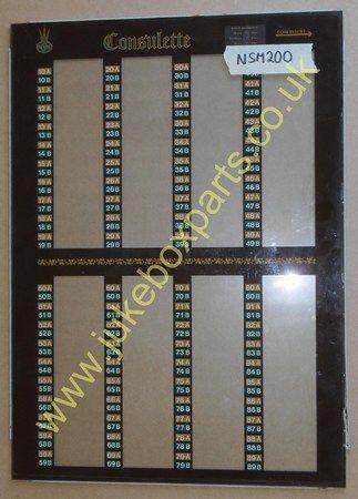 NSM Consulette Wall Box Glass (NSM200)