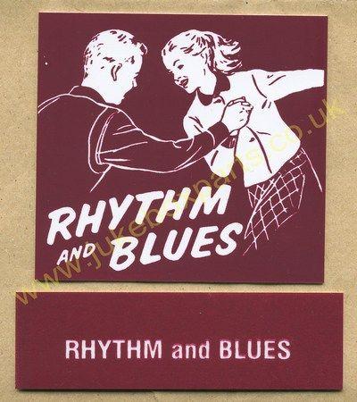 Seeburg V, VL & KD Drum Card & Classification Strip Rhythm & Blues Burgundy (JP522)