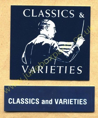 Seeburg V, VL & KD Drum Card & Classification Strip Classics & Varieties Blue (JP523)