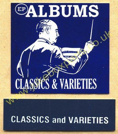 Seeburg V, VL & KD Drum Card & Classification Strip EP Albums Classics & Varieties Blue (JP527)