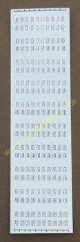 AMI H I J K Title Card Holder Number Strips (JP559)