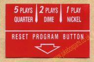 Wurlitzer Instruction Card Red (JP561)