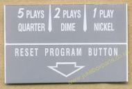 Wurlitzer Instruction Card Grey (JP564)