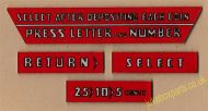 Wurlitzer 1700 & 1800 Set of Instruction Plastics (JP631)