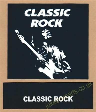Seeburg V, VL & KD Drum Card & Classification Strip Classic Rock Blue (JP643)
