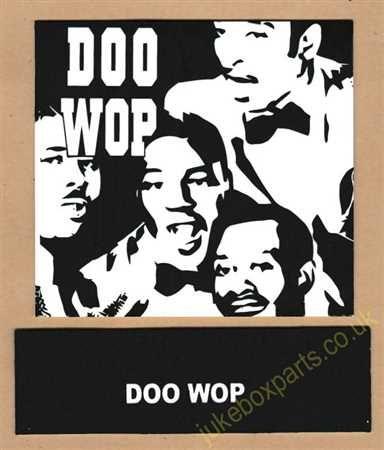 Seeburg V, VL & KD Drum Card & Classification Strip Doo Wop Green (JP647)