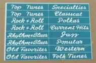 Wurlitzer 2100 Classification Strips (JP661)