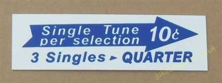 Seeburg V, VL & KD Drum Pricing Card (JP671)