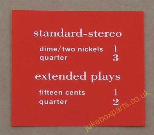 AMI Continental 2 Price Card (JP680)