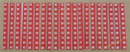 Seeburg V200 / VL200 / KD200 / KS200 Set of Drum Letters &Numbers (JP683)