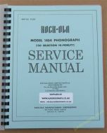 Rock-Ola 1454 Installation, Service Manual, Parts & Schematic
