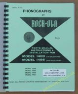 Rock-Ola 1488, 1495, 1496 & 1497 Models Parts Manual Instructions & Installation
