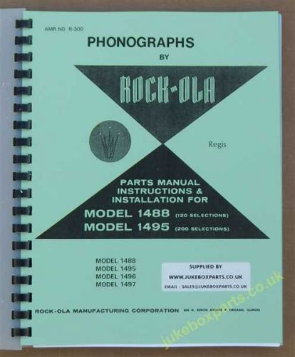 Rock-Ola 1488, 1495, 1496 & 1497 Models Parts Manual Instructions & Installation