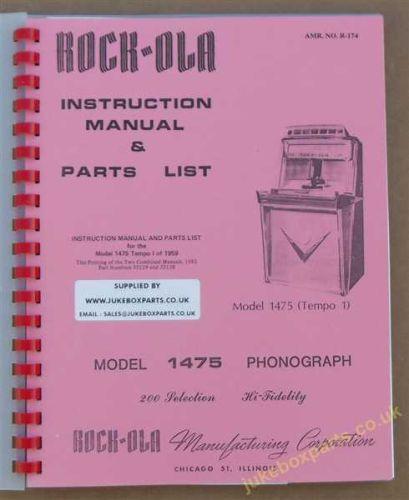 Rock-Ola 1475 Tempo 1 Manual