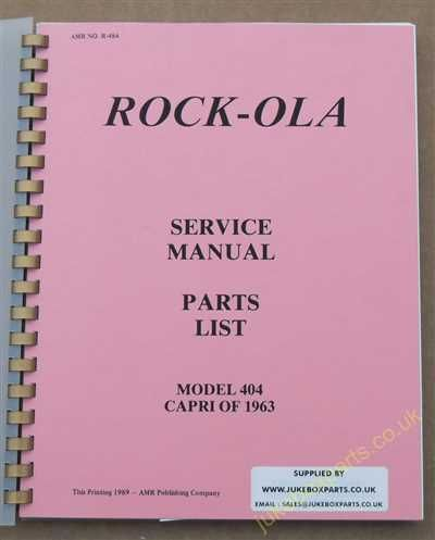 Rock-Ola 404 Capri Manual (1963)