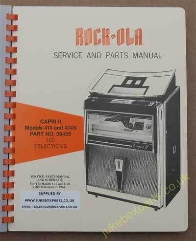 Rock-Ola 414, 414S Capri II Manual