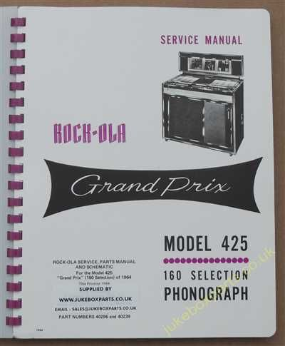Rock-Ola 425 Grand Prix Manual (1965)