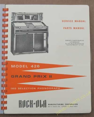 Rock-Ola 426 Grand Prix II Manual (1965)