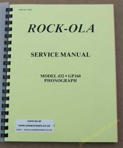 Rock-Ola 432 GP160 Manual
