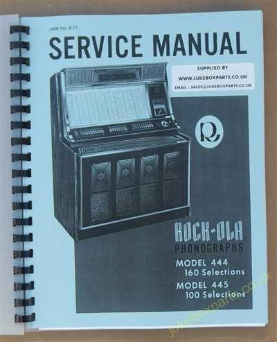 Rock-Ola 444, 445 Manual (1970-71)