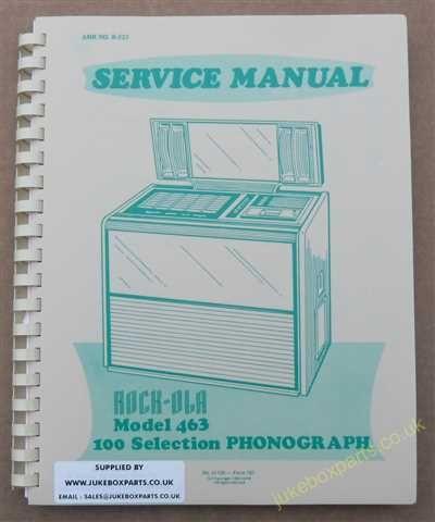 Rock-Ola 463, 469 Manual (1976-77)