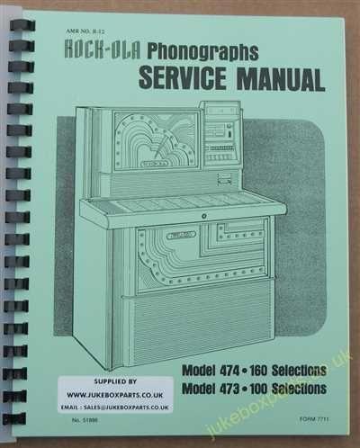 Rock-Ola 473, 474 Sybaris Manual (1978)