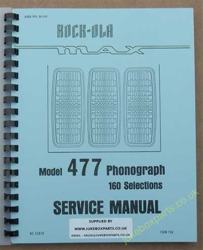 Rock-Ola 477 Max Manual (1978-79)