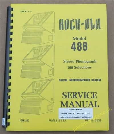 Rock-Ola 488 Vista Manual (1982)